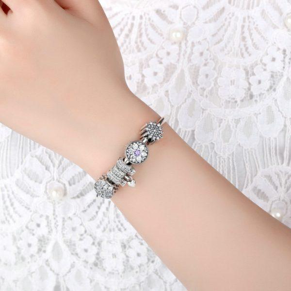 Pandora beads bracelets in sterling silver