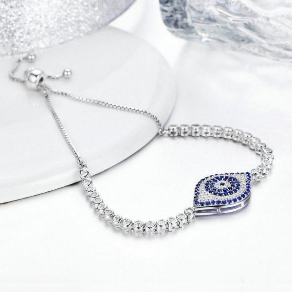 sterling silver evil eye bracelets