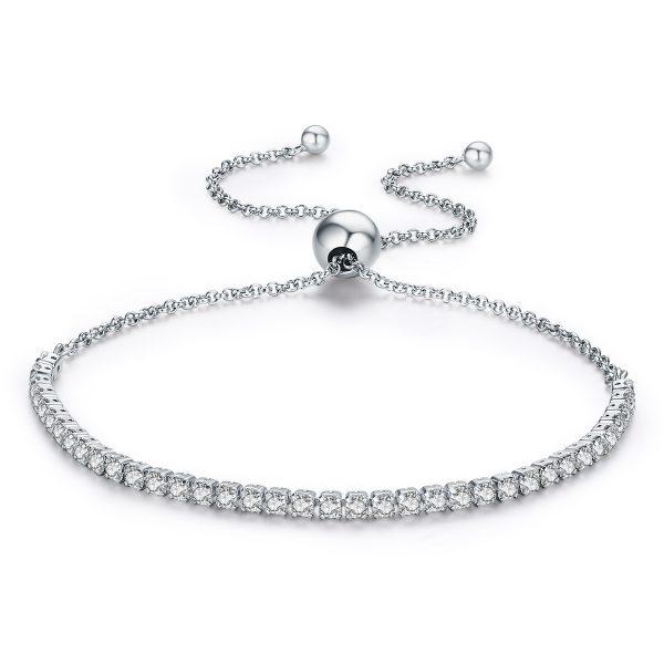 adjustable sterling silver tennis bracelet 925 sterling silver bracelet