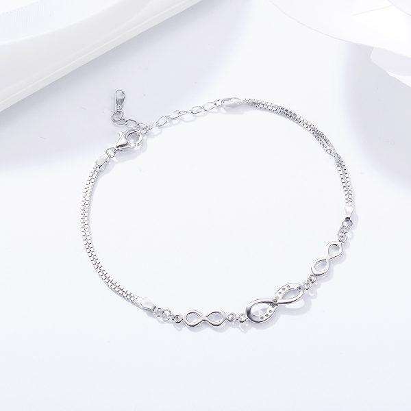 Sterling silver infinity bracelet infinity symbol bracelet factory