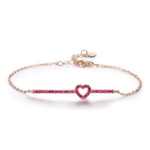 silver chain bracelet rose gold sterling silver bracelets with ruby