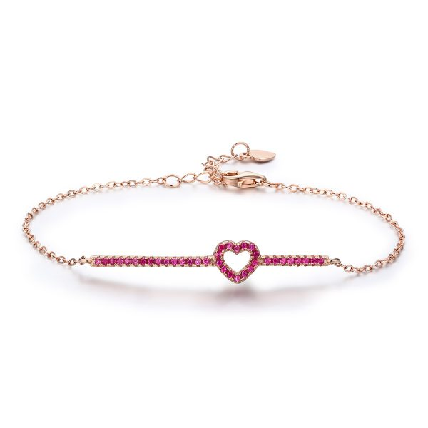 silver chain bracelet rose gold sterling silver bracelets with ruby