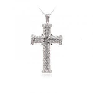 Fashion Sterling Silver 925 Jewelry christian necklaces sterling silver crucifix necklace