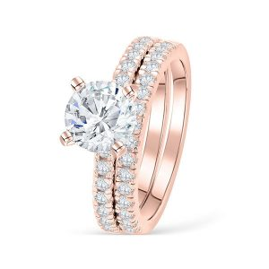 Cheap Wholesale 925 Sterling Silver Custom CZ Diamond Matching Wedding Band Sets