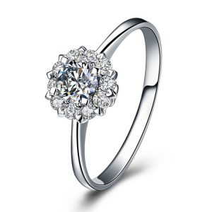 China Jewelry Wholesale Simple Engagement Rings Silver Sterling Silver Engagement Ring For Women