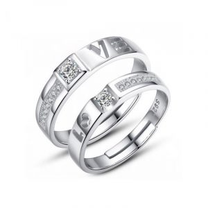 Direct Jewelry Manufacturer Sterling Silver Couple Rings Couple Engagement Rings Wholesale