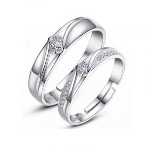 Latest Design Of Couple Rings Genuine 925 Sterling Silver His And Hers Promise Rings