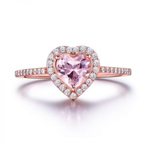 Sterling Silver Heart Shaped Ring For Girl Beautiful And Quality Sterling Silver CZ Engagement Rings