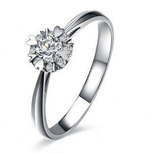 Unique Heart Design Simple Engagement Rings Silver Sterling Silver Engagement Ring For Wholesale