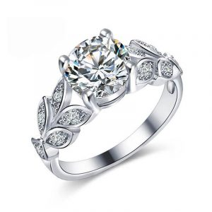 Wholesale Genuine 925 Sterling Silver Engagement Rings for Women Luxury Women's Engagement Ring