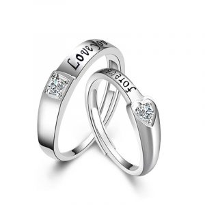 Wholesale Genuine 925 Sterling Silver Promise Rings For Couples His And Hers Promise Rings