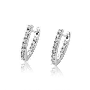 Custom Delicate Rhodium Plated Sterling Silver Oval Hoop Earrings Mini Hoop Earrings
