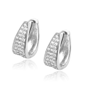 Fashion High Quality ltaly Jewelry Huggie Hoop Earrings With Luxury Zircon
