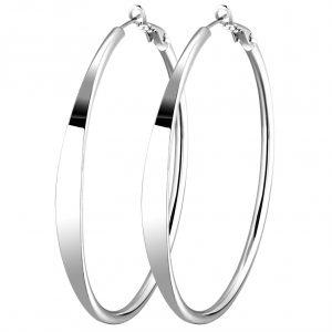 Hoops Earrings For Women Genuine 925 Sterling Silver Round Earring Designs Wholesale