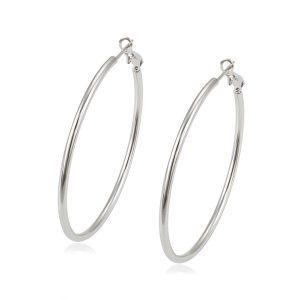 Large Hoop Earring Statement Earrings Turkey Mexico Fashion Jewelry Of Silver Hoop Earrings