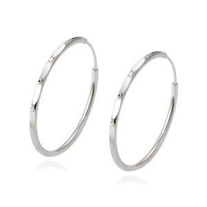 Large White Gold Color Hoop Earrings Saudi White Gold Plated Jewelry Hoop Saudi White Jewelry