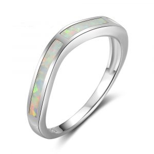 Cheap Wholesale 925 Sterling Silver Genuine Opal Rings Hot Selling Engagement Ring For Women