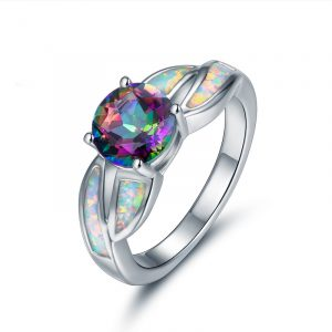 China Jewelry Wholesale Sterling Silver Opal Ring Opal Rings For Sale