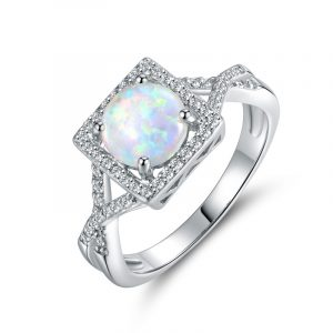 Direct Factory Genuine Opal Band Wholesale Opal Wedding Rings For Women