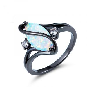 Direct Factory Genuine Opal Rings Wholesale Opal Wedding Rings For Women